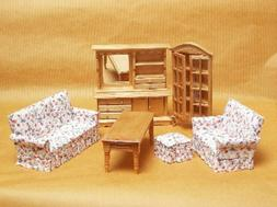Furniture for Dolls LIVING ROOM Dollhouse Miniature Scale 1: