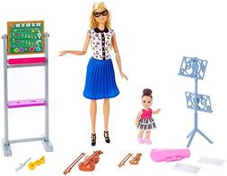 Barbie FXP18 Music Teacher Doll & Playset, Multicolor