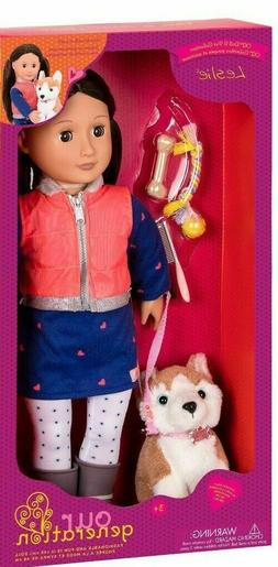 Our Generation Doll & Pet - Leslie with Husky