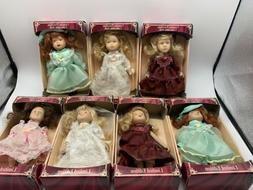 Genuine Porcelain Limited Edition Collectible Doll- Lot Of 7