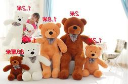 Giant HugeTeddy Bear Soft Plush Toys Stuffed Doll Birthday G