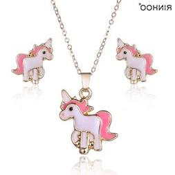 GIFT UNDER 5 DOLLARS Unicorn Necklace and Earrings Set for G