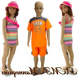 Girl/ Boy Mannequins+stand, Christmas display, plastic doll,