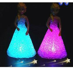For Girls Kids Toys Doll Christmas Gifts Ice Snow Queen LED