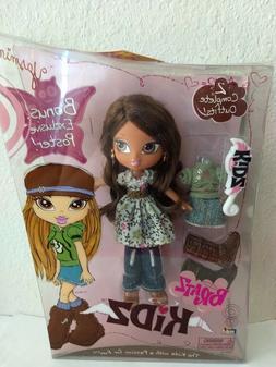 Girlz Girl Bratz Kidz Yasmin Doll Brown Eyes 2 Complete Outf