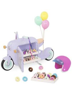 "Glitter Girls By Battat- Donut Delivery Scooter For 14"" Do"
