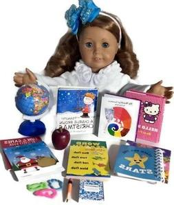 "Globe & School Supplies for 18"" Doll Accessories Fit America"