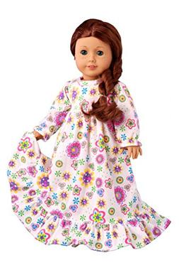 Good Night - Cotton nightgown - 18 inch doll clothes