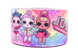 "GROSGRAIN GALAXY LOL DOLLS  3"" INCH PRINTED GROSGRAIN RIBBON"