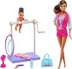 Barbie Careers Gymnastic Coach Playset, Brunette