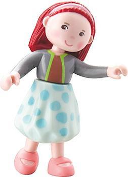 """HABA Little Friends Imke - 4"""" Bendy Girl Doll Figure with Re"""