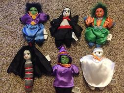 Halloween Dolls Set of 6 Decoration Collectible 6 Inch NEW F