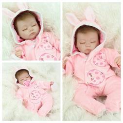"16""Realistic Newborn Vinyl Silicone Reborn Baby Doll Handmad"
