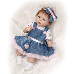 "Handmade RealLife Baby Dolls 18"" Soft Silicone Vinyl Reborns"
