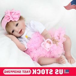 "Handmade Reborn Baby Dolls 17"" Lifelike Newborn Babies Vinyl"