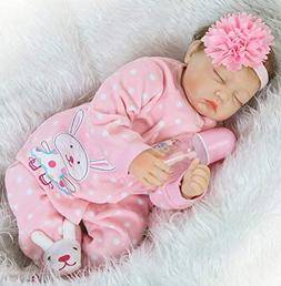 "NPK Handmade Reborn Baby Dolls Girl 22"" Sleeping Newborn Sof"