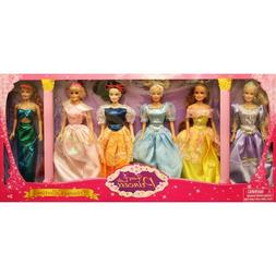 Harbor View 11.5 in. 6 Pack Princess Doll Gift Set