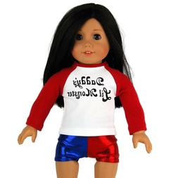 """Harley Quinn Inspired Doll Clothes Separates - Made for 18"""""""