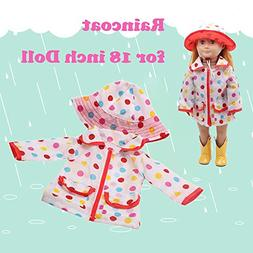 Mandy Hat Raincoat Clothes Suit for 18 Inch American Girl Do