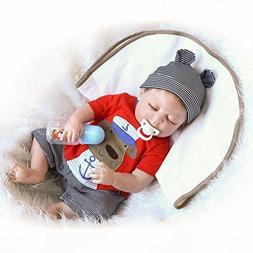 NPK HerIn Lifelike Reborn Baby Doll, Lovely Simulation Smile