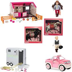 Our Generation HOLIDAY BUNDLE OF 7 ! Lori Horse Barn/Pickup