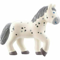 "HABA Little Friends Horse Pippa - 4.5"" Dapple Grey Mare Pose"