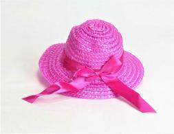 Hot Pink Straw Hat  for 18'' Dolls by American Fashion World
