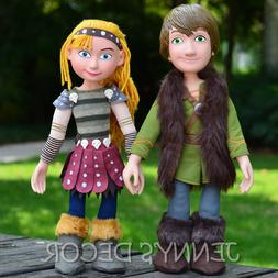 """How To Train Your Dragon Plush Toy 15"""" Hiccup Astrid Soft Do"""
