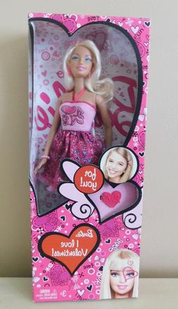 I Love Valentines Barbie Doll - and Hairclip - 2012 - New in