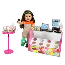 Doll Ice Cream Set - Complete Doll Electronic Ice Cream Parl