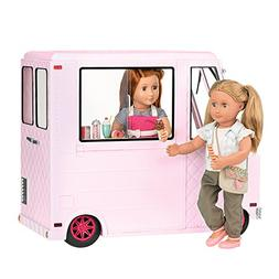 Our Generation Ice Cream Truck inch Doll, Pink, 18""
