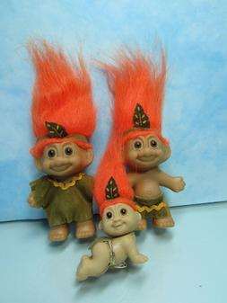 INDIAN CHILDREN SET - Russ Troll Dolls - NEW IN ORIGINAL WRA