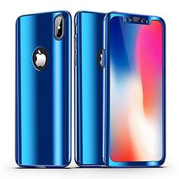 iPhone X Case + Screen Protector Alsoar iPhone 10 Cover 2 in