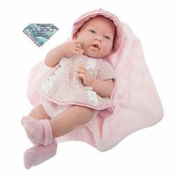 JC Toys La Newborn Real Girl Baby Doll, Rose o/f 15'' All Vi