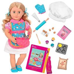 """Our Generation Jenny-Deluxe Doll with Book 18"""" Doll"""
