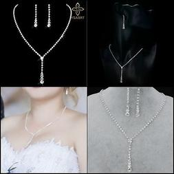 Jewelry Set for Women Under 10 Dollars Silver Plated Necklac