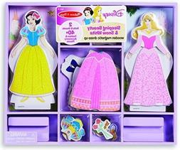 Kids Doll Dress Up Magnetic Wooden Princess Disney Toddler T