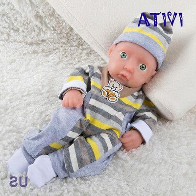 IVITA 11'' Full Body Silicone Reborn Baby BOY Realistic Sili