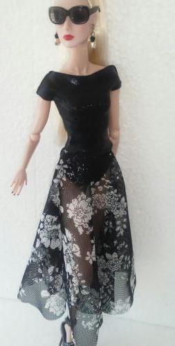 12 inch fashion doll dress one size fits all nuface, Fr,fr2,