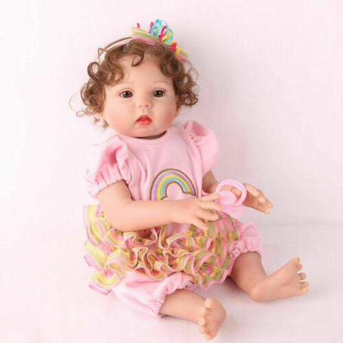 "16"" Silicone Reborn Baby Doll Anatomically Handmade Xmas Gifts Doll"