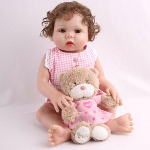 "18"" Full Body Silicone Reborn Baby Doll Anatomically Newborn"