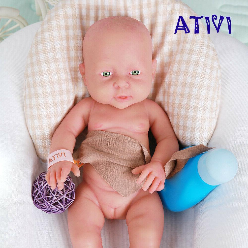 Xmas Gift 16'' IVITA Reborn Dolls Realistic Full Silicone Ba
