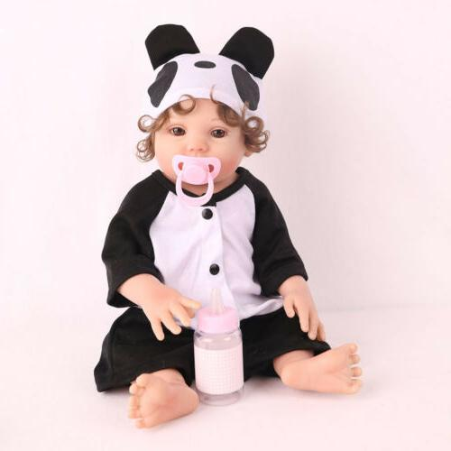 "16"" Reborn Baby Doll Lifelike Full Body Silicone Anatomicall"