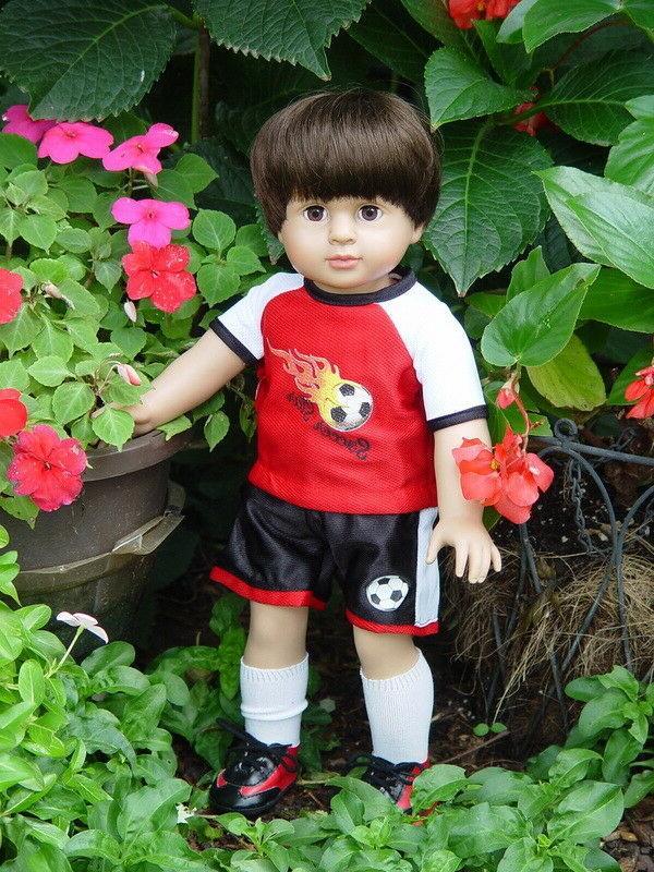 18 inch boy doll mason open close