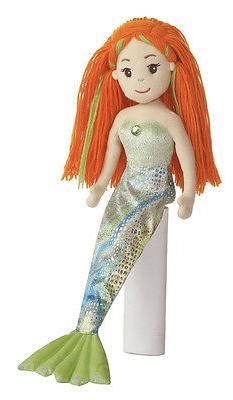 18 Inch Mermaid Doll Meriel Stuffed Plush Friend Red Orange