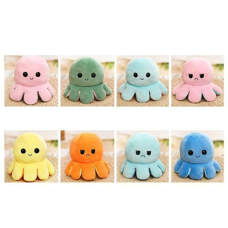 1X Doll Emotional Face Changing Double-Sided Toy Octopus