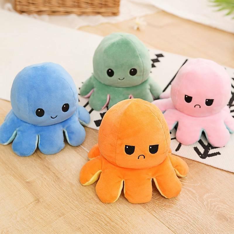 1X Octopus Doll Face Flip Toy