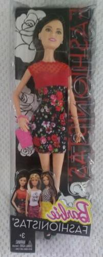 2014 Barbie Fashionistas Raquelle New in Packaging Red Rose