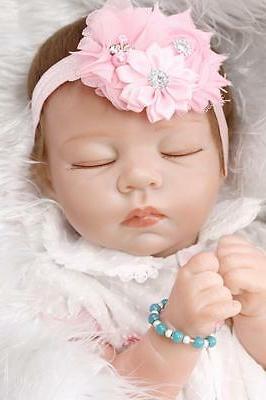 """21"""" Reborn Soft Vinyl Real Girl Doll 52cm Gift"""