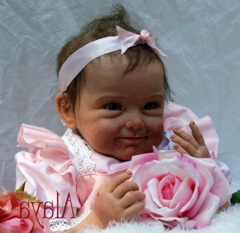 "22"" Baby Girl Look Newborn Silicone Dolls"
